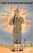 mil201504 - Military Comic Postcard, Old Vintage Antique Post Card