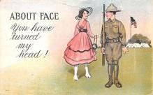 mil201511 - Military Comic Postcard, Old Vintage Antique Post Card