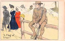 mil201515 - Military Comic Postcard, Old Vintage Antique Post Card