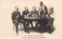 min000018 - The Traveling Salesman Minstrel Postcard Post Cards Old Vintage Antique