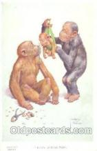 mky001007 - Artist Lawson Wood, Monkey, Monkeys Postcard Postcards