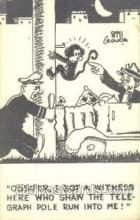 mky001023 - Artist Signed Bill Crouch, Monkey, Monkeys, Gorilla, Gorillas Postcard Postcards