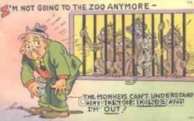 mky001037 - Monkey, Monkeys, Gorilla, Gorillas Postcard Postcards