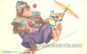 mky001039 - Artist V. Hancke, Monkey, Monkeys, Gorilla, Gorillas Postcard Postcards