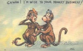 mky001044 - Monkey, Monkeys, Gorilla, Gorillas Postcard Postcards
