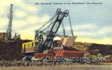 mng001034 - Quarrying Limestone on the Marblehead, Ohio, USA Peninsula, Mining Postcard Postcards
