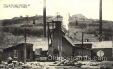 mng001058 - Mine Real Photo Cripple Creek, CO, USA Postcard Post Cards Old Vintage Antique