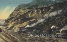 mng001071 - Culebre Cut, Panama Canal Mining Postcard Postcards