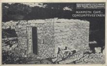 mng001075 - Mammoth Cave. Consumptives' cabin, H.C. Ganter, USA Mining Postcard Postcards