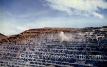mng001093 - Blasting at bingham copper mine, Utah, USA Mining Postcard Postcards