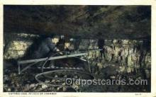 mng001122 - Cutting coal at face of chamber Mine, Mining, Postcard Postcards