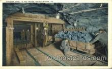 mng001142 - Loading coal in the mine, PA, Pennsylvania, USA Mine, Mining, Postcard Postcards