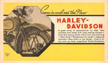 mot000007 - Harley Davidson Advertising, Motorcycle Postcard Postcards