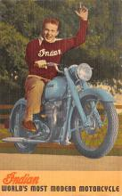 mot000011 - Indian Motorcycle Postcard
