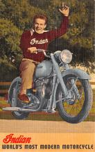 mot000012 - Indian Motorcycle Postcard Postcards