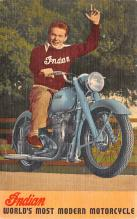 mot000013 - Indian Motorcycle Postcard Postcards