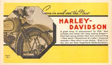 mot000020 - Harley Davidson Motorcyle Postcard Post Card Old Vintage Antique