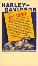 mot000021 - Harley Davidson Motorcyle Postcard Post Card Old Vintage Antique
