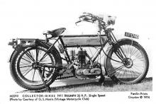 1911 Triumph 31/2 H.P. Single Speed