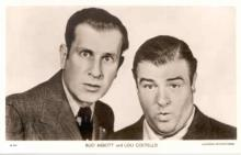 mov001004 - Abbott & Costello Actor / Actress Postcard Post Card Old Vintage Antique