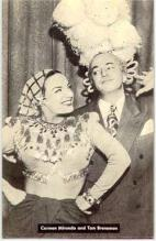mov002036 - Carmen Miranda & Tom Breneman Actor / Actress Postcard Post Card Old Vintage Antique
