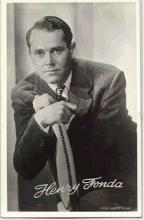 mov006030 - Henry Fonda Actor / Actress Postcard Post Card Old Vintage Antique Movie Star