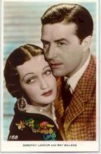 mov012017 - Dorothy Lamour & Ray Milland Actor / Actress Postcard Post Card Old Vintage Antique Movie Star
