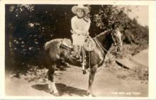 mov012030A - Tom Mix & Tony Actor / Actress Postcard Post Card Old Vintage Antique Movie Star