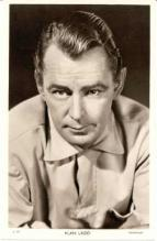 mov555001 - Alan Ladd Actor / Actress Postcard Post Card Old Vintage Antique Movie Star