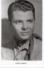 mov680003 - Audie Murphy Actor / Actress Postcard Post Card Old Vintage Antique Movie Star