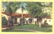 msh001006 - Don Ameche, Hollywood, CA Movie Star Homes Postcard Postcards
