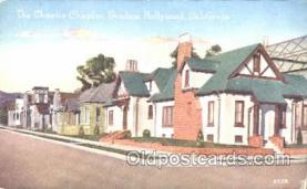 msh001010 - Charlie Chaplin, Hollywood, CA Movie Star Homes Postcard Postcards