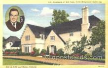 msh001012 - Bob Hope, Hollywood, CA Movie Star Homes Postcard Postcards