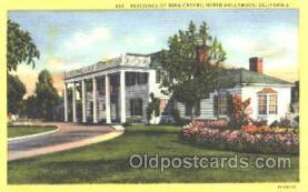 msh001016 - Bing Crosby, Hollywood, CA Movie Star Homes Postcard Postcards