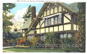 msh001018 - Norma Talmadge, Hollywood, CA Movie Star Homes Postcard Postcards