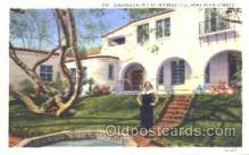 msh001020 - Dolores Del Rio, Hollywood, CA Movie Star Homes Postcard Postcards