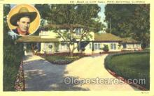 msh001023 - Gene Autry, Hollywood, CA Movie Star Homes Postcard Postcards