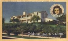 msh001025 - Jane Withers Home, LA CA, USA Movie Star, Actor / Actress, Post Card Postcard