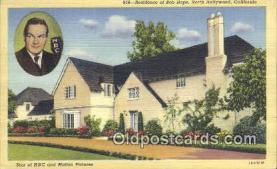msh001033 - Bob Hope, North Hollywood, CA, USA Movie Star, Actor / Actress, Post Card Postcard