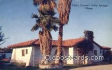 msh001042 - Eddie Cantor, Palm Springs, CA, USA Movie Star, Actor / Actress, Post Card Postcard