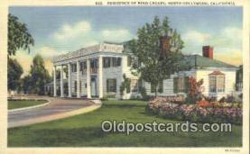 msh001046 - Bing Crosby, North Hollywood, CA USA Movie Star, Actor / Actress, Post Card Postcard