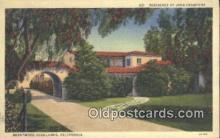 msh001048 - Joan Crawford, Brentwood Highlands, CA, USA Movie Star, Actor / Actress, Post Card Postcard