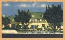 msh001051 - Wallace Beery, Beverly Hills, CA, USA Movie Star, Actor / Actress, Post Card Postcard