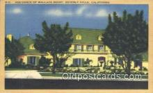 msh001054 - Wallace Beery, Beverly Hills, CA, USA Movie Star, Actor / Actress, Post Card Postcard