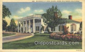 msh001057 - Bing Crosby, North Hollywood, CA USA Movie Star, Actor / Actress, Post Card Postcard