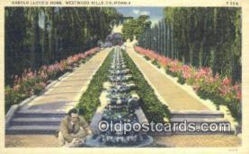 msh001067 - Harrold Lloyd, Westwood Hills, CA, USA Movie Star, Actor / Actress, Post Card Postcard