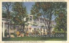 msh001069 - Will Rogers, Santa Monica, CA, USA Movie Star, Actor / Actress, Post Card Postcard