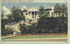 msh001078 - Loretta Young, Belair, CA, USA Movie Star, Actor / Actress, Post Card Postcard