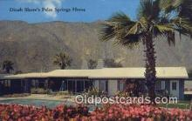 msh001079 - Dinah Shore, Palm Spring, USA Movie Star, Actor / Actress, Post Card Postcard