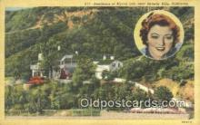msh001086 - Myrna Loy, Near Beverly Hills, CA, USA Movie Star, Actor / Actress, Post Card Postcard